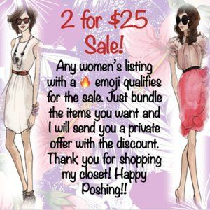 2 women's items for $25!!